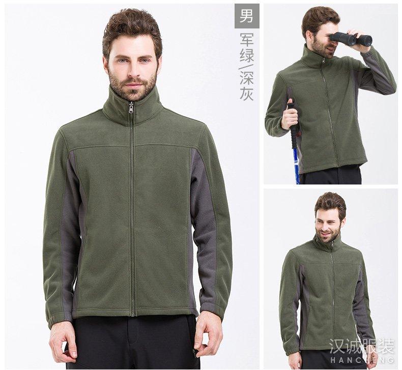 军绿色秋冬加厚透气摇粒绒外套-03